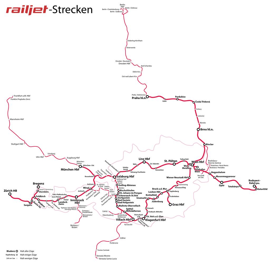 Austrian railway network