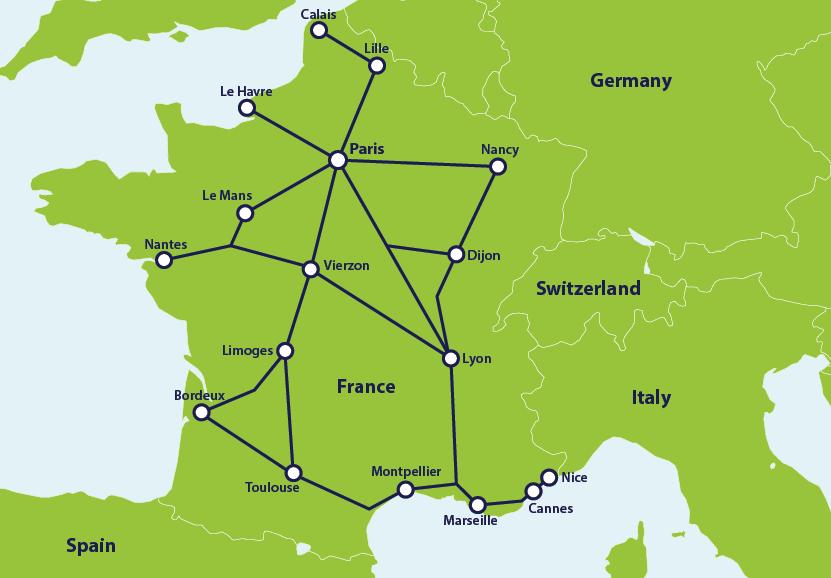 French Railway Network