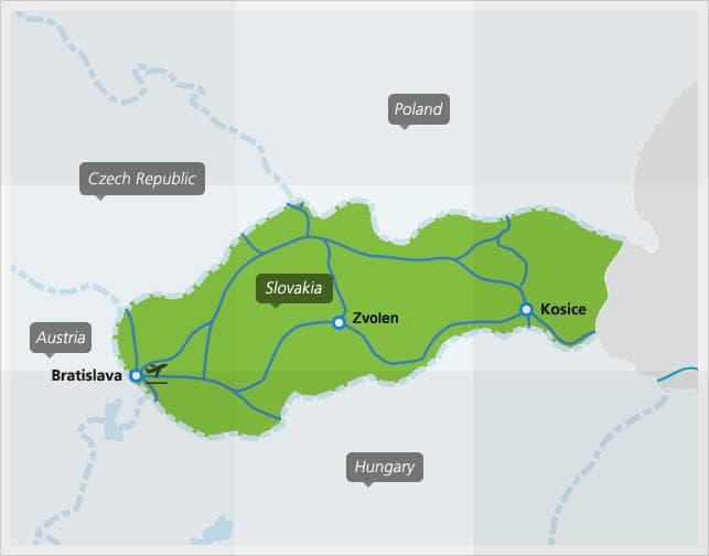 Map of Slovakia Railway