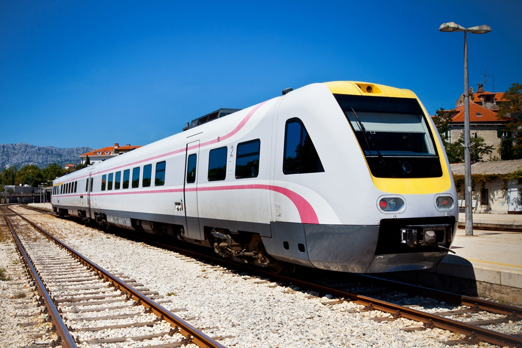 Fast train in Split railway station