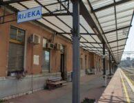 Works at the train station of Rijeka, European Capital of Culture 2020